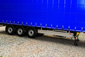 MM1902-01-11 MARGE MODELS PACTON CURTAINSIDER LORRY TRAILER IN PLAIN BLUE