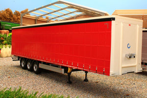 MM1902-01-12 MARGE MODELS PACTON CURTAINSIDER LORRY TRAILER IN PLAIN RED