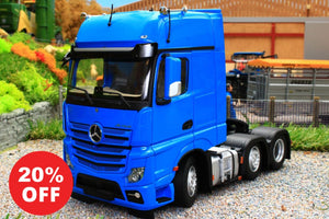 MM1912-06 MARGE MODELS MERCEDES BENZ ACTROS GIGASPACE 6 X 2 IN BLUE