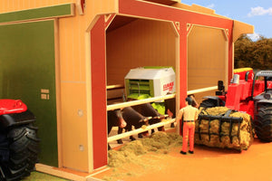Bt9500 Large Scale Utility Shed With Free Bruder Figure! Authentic Farm Buildings (1:16 Scale)