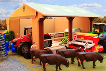 Load image into Gallery viewer, Bt9500 Large Scale Utility Shed With Free Bruder Figure! Authentic Farm Buildings (1:16 Scale)
