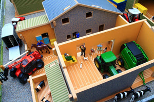 Bt8860 My Third Farm Play Set With Free Britains Mixed Animal Set! Buildings & Stables (1:32 Scale)
