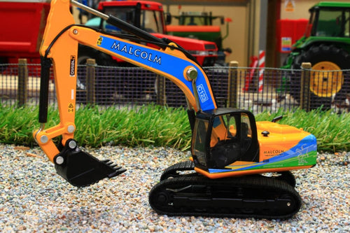 OXF76JS003 OXFORD DIE CAST 176 SCALE JCB JS220 TRACKED EXCAVATOR WITH W H MALCOLM LIVERY