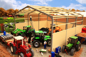 PB16B LARGE COVERED SILAGE CLAMP (GREY FRAME)