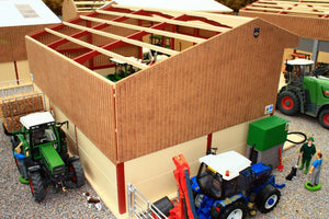 PB1A Pro Build Tractor and Machinery Shed (Red Oxide)