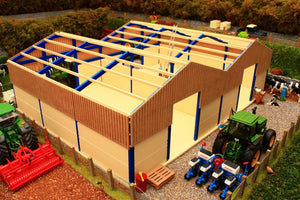 PB5A(BL) Pro Build Traditional Cubicle House (Blue frame)