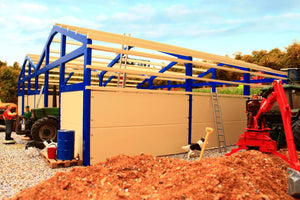 PB5B(BL) Pro Build Traditional Cubicle House (Blue frame)