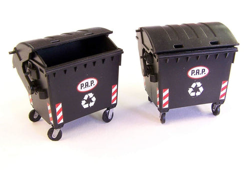 PLM433 Plusmodel Commercial Wheelie Bins (135 Scale)