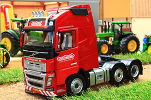 Mm1811-03-01 Marge Models Volvo Fh16 6X2 Lorry In Red With Nooteboom Livery Tractors And Machinery