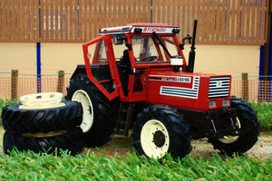 Rep117 Replicagri Fiat 140 90 Tractor With Detachable Dual Rear Wheels Tractors And Machinery (1:32