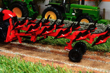 Load image into Gallery viewer, Rep120 Replicagri Besson Charrue Rwy8 In Red 6 Furrow Reversible Plough Tractors And Machinery (1:32
