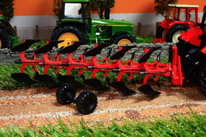 REP120 REPLICAGRI BESSON CHARRUE RWY8 IN RED 6 FURROW REVERSIBLE PLOUGH