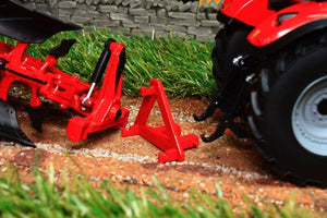 Rep120 Replicagri Besson Charrue Rwy8 In Red 6 Furrow Reversible Plough Tractors And Machinery (1:32