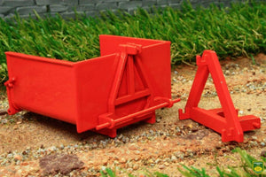 Rep140O Replicagri Bennette Link Box In Orange Tractors And Machinery (1:32 Scale)