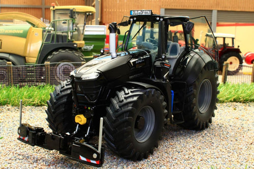 SCH07776 SCHUCO DEUTZ FAHR 9340 WARRIOR 4WD TRACTOR WITH AGRIBUMPER IN BLACK LIMITED EDITION