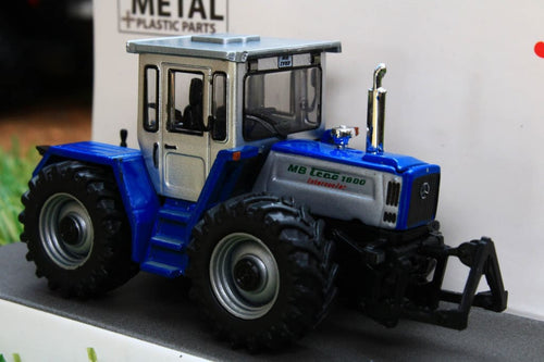 SCH26417 SCHUCO 187 SCALE MB TRAC1800 IN SILVER AND BLUE