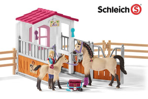 Sl42369 Schleich Horse Club Stall With Arab Horses ** 10% Off Equestrian Department (All Scales)