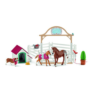 SL42458 Schleich Horse Club - Hannah's Guest Horses with Ruby the Dog