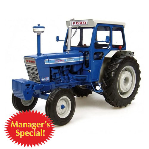 MS-UH2798 UNIVERSAL HOBBIES FORD 7000 TRACTOR WITH CAB (1:16TH SCALE)