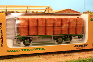 Uh5225 Universal Hobbies Joskin Wago Tr10000 T20 Trailer With Round Bales Tractors And Machinery