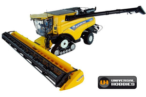 UH5248 UNIVERSAL HOBBIES NEW HOLLAND CR1090 TRACKED COMBINE HARVESTER - FRONT LEFT VIEW
