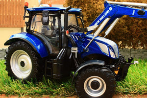UH5320 UNIVERSAL HOBBIES NEW HOLLAND T6.175 BLUE POWER TRACTOR WITH LOADER