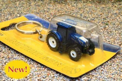 UH5814 UNIVERSAL HOBBIES NEW HOLLAND T7.225 BLUE POWER TRACTOR KEYRING