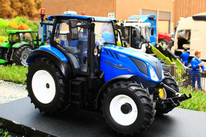 UH6222 UNIVERSAL HOBBIES NEW HOLLAND T5.130 BLUE POWER TRACTOR WITH HI VIS CAB