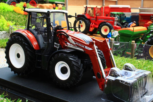 UH6235 UNIVERSAL HOBBIES NEW HOLLAND T5.120 CENTENARIO 4WD TRACTOR IN TERRACOTTA WITH TERRACOTTA 740TL FRONT LOADER WITH GRAB