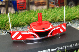 UH6250 UNIVERSAL HOBBIES TRACTOR BUMPER SAFETY WEIGHT 800 KG IN RED