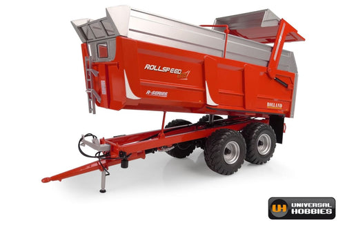 UH6339 UNIVERSAL HOBBIES ROLLAND ROLLSPEED 6835 R-SERIES TIPPING TRAILER IN RED