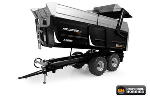 UH6340 UNIVERSAL HOBBIES ROLLAND ROLLSPEED 6835 R-SERIES TIPPING TRAILER IN BLACK
