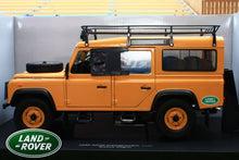 Load image into Gallery viewer, UNIVERSAL HOBBIES 1:18TH  EXACT SCALE REPLICA LAND ROVER DEFENDER 110 TD5 CAMEL EXPEDITION VERSION