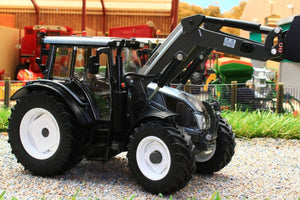 W7327 WIKING VALTRA N123 TRACTOR WITH FRONT LOADER AND BUCKET