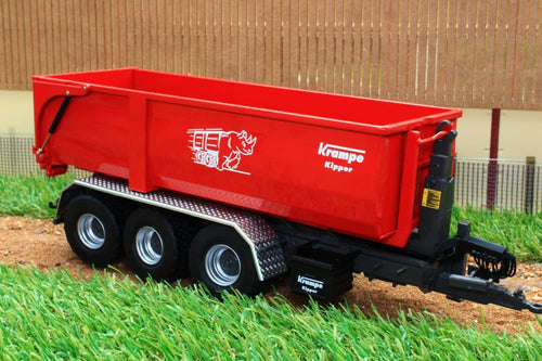 W7826 Wiking Krampe Hook Lift Roll On Off Trailer Tractors And Machinery (1:32 Scale)
