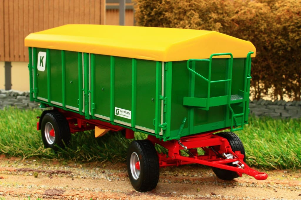 W7827 Wiking Two Axle Three Way Kroger Agroliner Tipper Trailer Hkd302 Tractors And Machinery (1:32