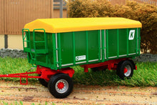 Load image into Gallery viewer, W7827 WIKING TWO AXLE THREE WAY KROGER AGROLINER TIPPER TRAILER HKD302