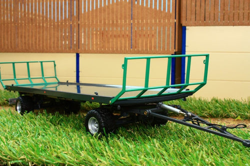 W7831 Wiking Oehler Zdk 120 B Two Axle Bale Trailer Tractors And Machinery (1:32 Scale)