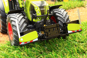 W7841 Wiking Front Bumper And Weights In Claas Colours Tractors And Machinery (1:32 Scale)
