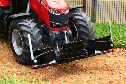 W7844 Wiking Front Bumper And Weights In Black Colour Tractors And Machinery (1:32 Scale)