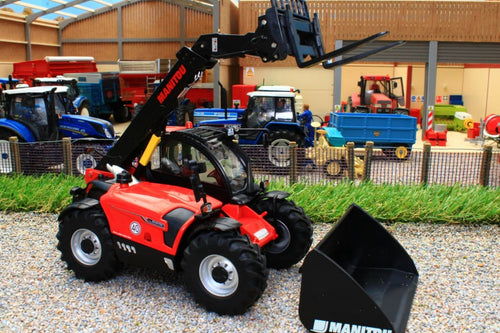 W7850 WIKING MANITOU TELESCOPIC LOADER MLT 635 WITH FORKS AND BUCKET