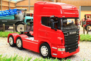 WEL32670LR WELLY 132 SCALE SCANIA R730 V8 6X4 LORRY IN RED