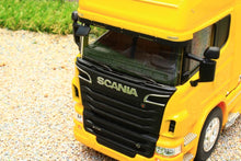 Load image into Gallery viewer, WEL32670SY WELLY 132 SCALE SCANIA R730 V8 4X2 LORRY IN YELLOW