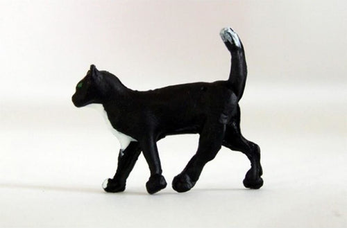 HLT-WMA1 HLT Miniatures Farm Walking Black Cat