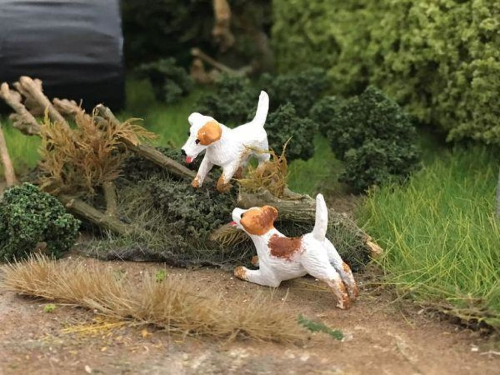 HLT-WMA86 Jack Russell Dogs (x2) by HLT