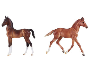 BR9198 Breyer Best of British Foals - Thoroughbred and Hackney