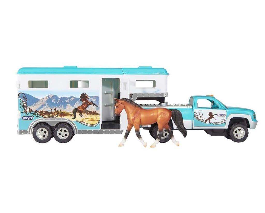 BR6046 Breyer Pick-up Truck and Trailer (1:32 Scale)