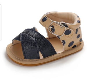 Brown Leopard Sandals