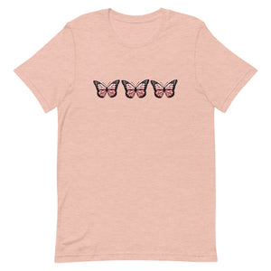 Fly Butterfly in pink T-shirt