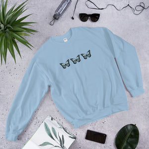 Fly Butterfly in blue Sweatshirt